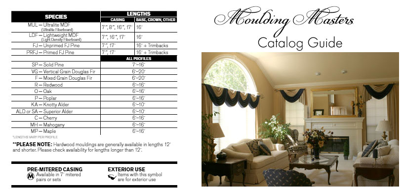 Moulding Masters Catalog Guide