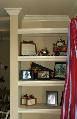 Shelves with Moulding